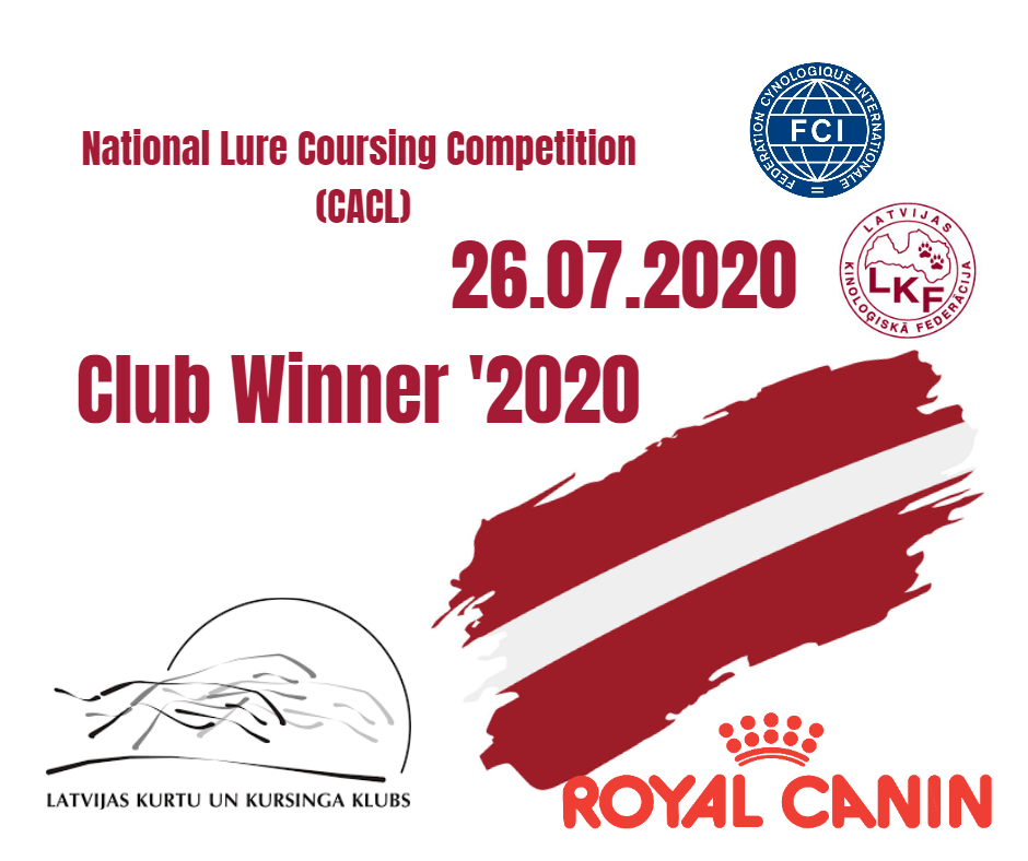Lure Coursing competition CACL Club Winner 2020